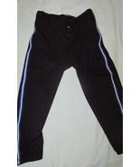 Boys sz 24-26 Teamwork baseball softball pants black blue white piping - $9.89