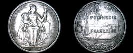 1965 French Polynesia 5 Franc World Coin - $4.99