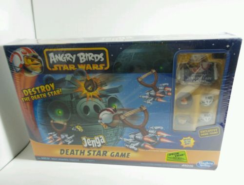 Hasbro Angry Birds Death Star Jenga Game Star Wars Still in Shrink Wrap