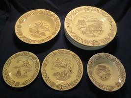 Bucks County Royal China Farm Pennsylvania Dutch Amish 11 pc dinner plates vege - $125.00