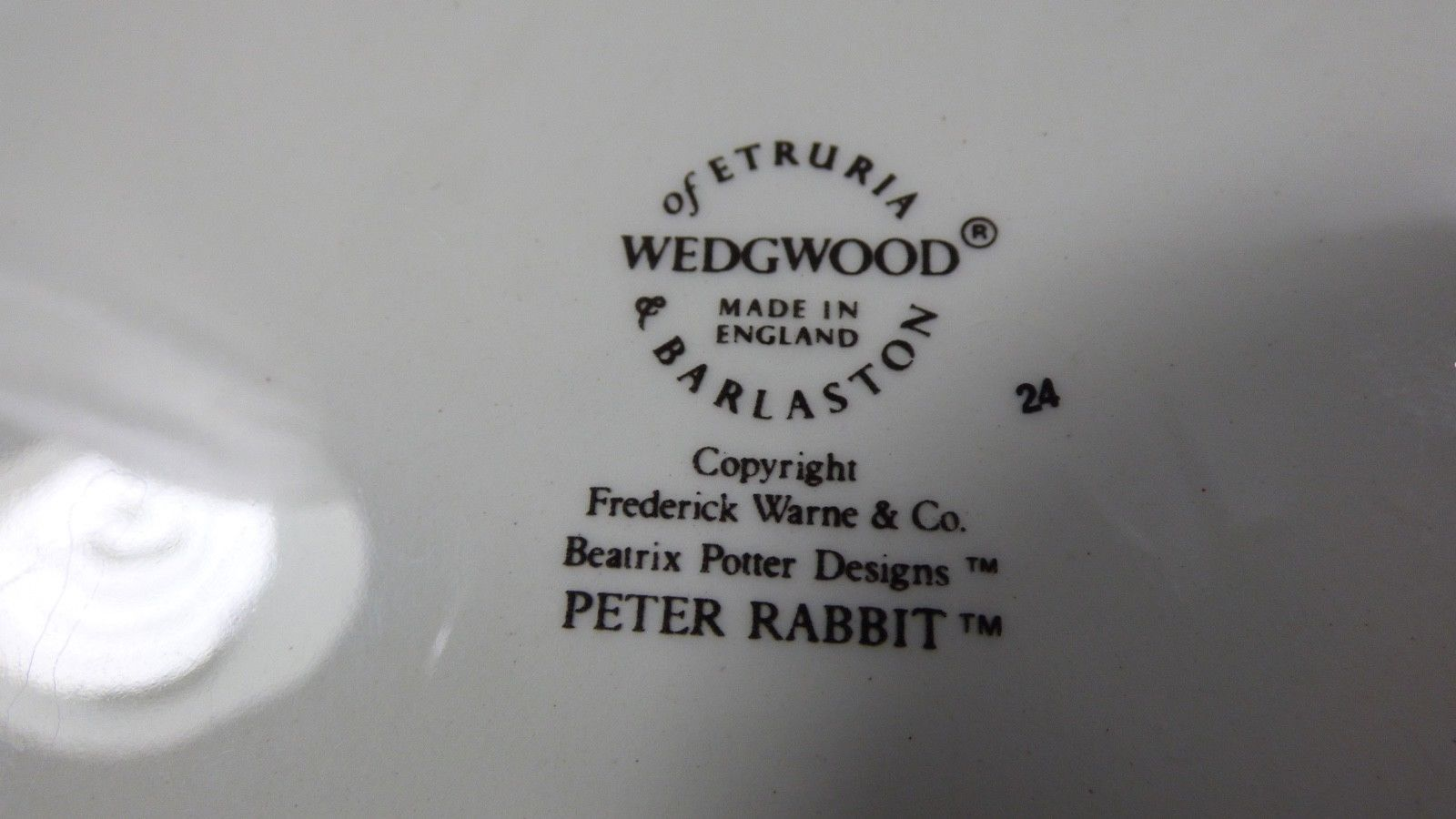 Wedgwood England Peter Rabbit Children 3 Piece Nursery story Set bowl plate cup image 10