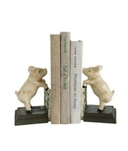 Creative Co-op | Hand Painted Pig Bookends | Whimsical | Farm | Country ... - $22.25