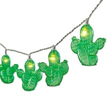 """Cactus Plastic Patio String Lights 10 Count 65"""" Long New Battery Operate... - $16.82"""