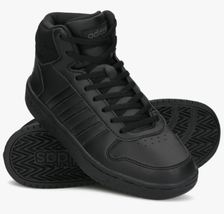 new adidas HOOPS 2.0 Mid women's 7.5 8 Athletic Basketball Sneakers Blac... - $54.90