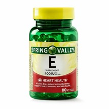 Spring Valley Vitamin E Heart Health Supplement 100 Softgel Capsules - $9.98