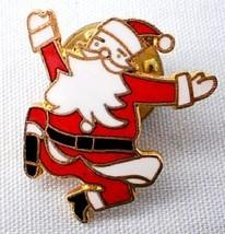 Vintage Cloisonne Santa Claus Pin Brooch - $8.95 CAD