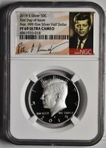 2019 S .999 Fine Silver Kennedy 50¢ Half Dollar NGC PF69 First Day Coin SKU C122