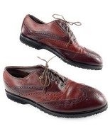 Vintage USA Made FootJoy Classics Brogue Wingtip Spikeless Golf Shoes Me... - $103.70