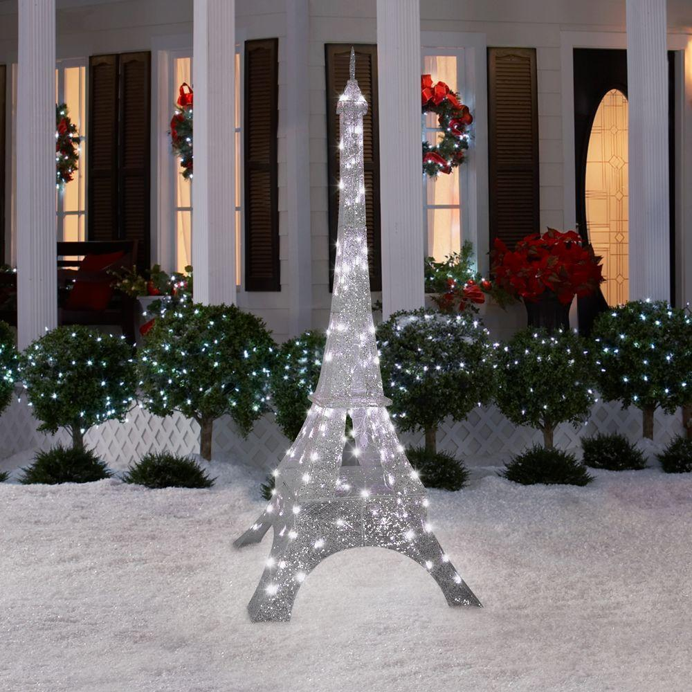 Christmas Decoration Pre Lit Eiffel Tower Outdoor Yard ...
