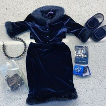 American Girl 2000 Twilight Holiday Clothes Lot Outfit Shoes Headband Gift Gems - $33.56
