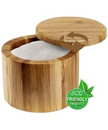 Estilo Single Round Salt or Spice Box with Lid, Bamboo - EST2585 - $5.10
