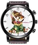 Cat Lover Pet Kitten Novelty Art Unique Wrist Watch FAST UK - $45.00