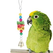 Home Pet Birds Toys Hanging Wooden Parrot Bite Chew Toys - £8.35 GBP