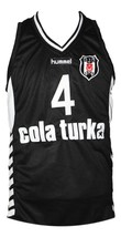 Allen Iverson Cola Turka Basketball Jersey New Sewn Black Any Size image 4