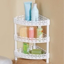 White Scrolling 3-Tiered Corner Organizer Shelf - £16.43 GBP
