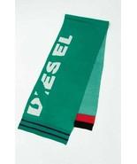 Diesel unisex K-Type 00S9F0 fine knitted scarf green - $50.66