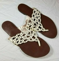 Vince Camuto Womens White Studded Sandals Size 8 D5716818 Free Shipping - $18.80