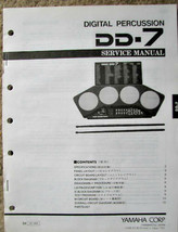 Yamaha DD-7 Digital Drum Machine / Drum Pads Original Service Manual Sch... - $14.84
