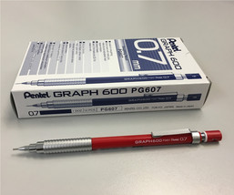 Pentel GRAPH 600 PG607 0.7mm Mechanical Drafting Pencil (12pcs) - Red - $75.50