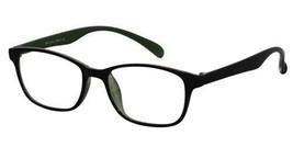 Reading Glasses Unisex Black Green Rectangular TR90 Flex 268115-black-gr... - $22.44+