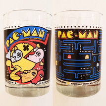 Vintage 1980 PAC-MAN Glass Tumbler Bally Midway Arcade Game Arby's Colle... - $19.31