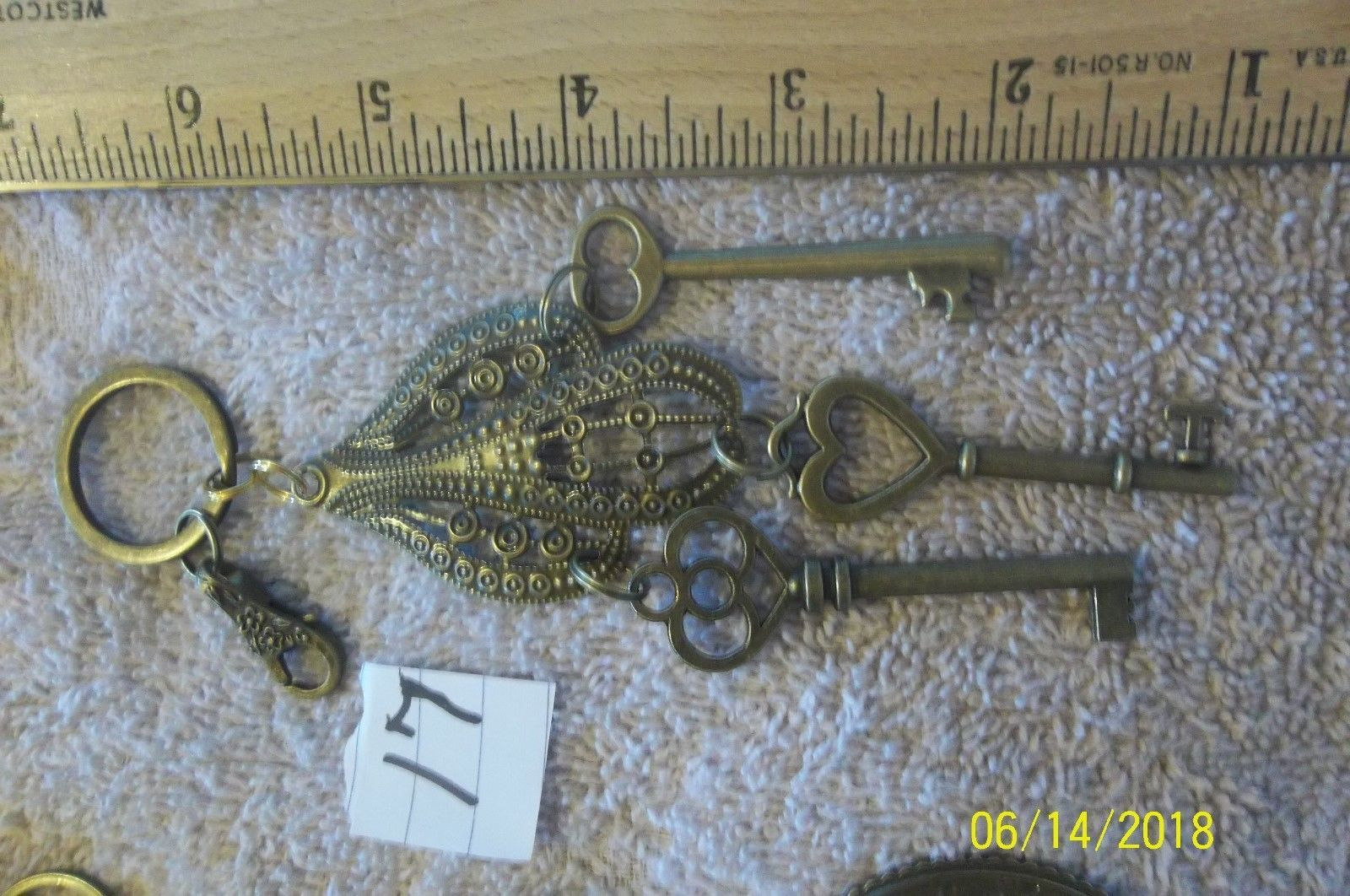 # purse jewelry bronze color keychain backpack  dangle charms #17 lot of 2 image 3