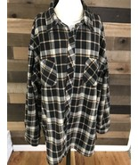 Red Wing Irish Setter Heavy Flannel Button Up Shirt Mens Size 2xl - $50.48