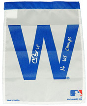 CHRIS BOSIO Signed Chicago CUBS 11x15 White W Flag w/16 WS Champs - SCHW... - $34.65
