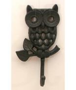 Cast Iron Owl Coat Hook Rustic Set of 2 - $12.86