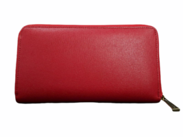 Vintage New in Box Dust Bag Pierre Cardin Red Leather Wallet Clutch Bag image 4