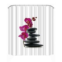 Enjoy Your Time Bathtub Bathroom Fabric Shower Curtain with 12 Hooks High Qualit - $29.12