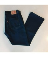 Levis 515 Bootcut Size 8S Mid Rise Stretch Womens Jeans Dark Wash - $23.64