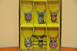 Pier 1 Imports Drink Charms (Owls) - $12.00
