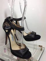 JIMMY CHOO Lancer Crystal-Embellished Suede Sandals (Size 37) image 8