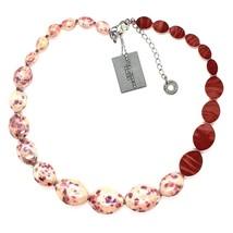 NECKLACE ANTICA MURRINA VENEZIA WITH MURANO GLASS RED BEIGE WHITE CO924A11 - $82.72
