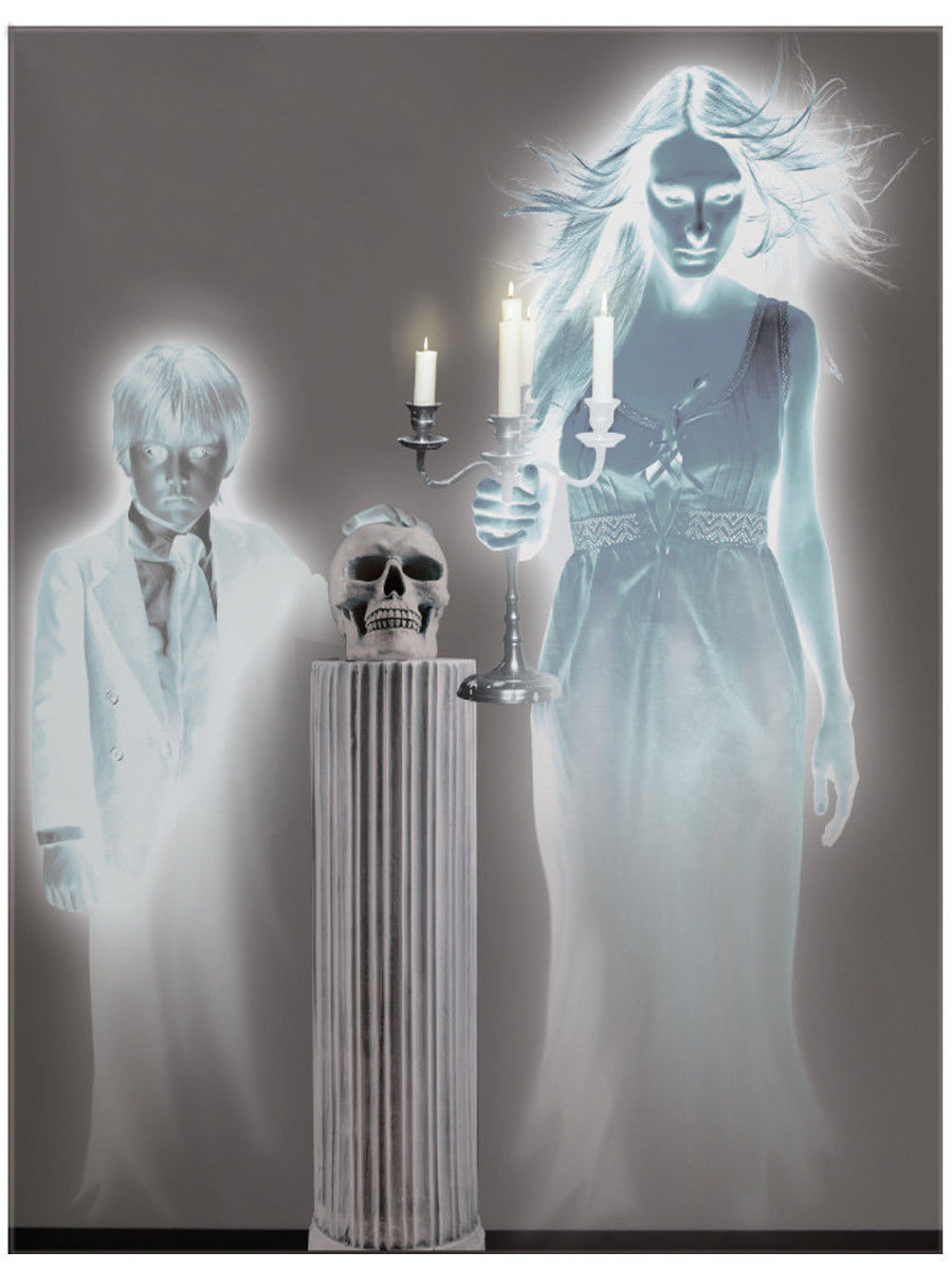 Primary image for Large 4' x 5' Haunted House 2 Ghostly Spirit Wall Border Scene Setter Decal