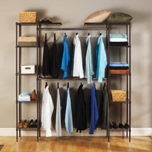 Seville Classics Expandable Closet Organizer Br... - $116.81