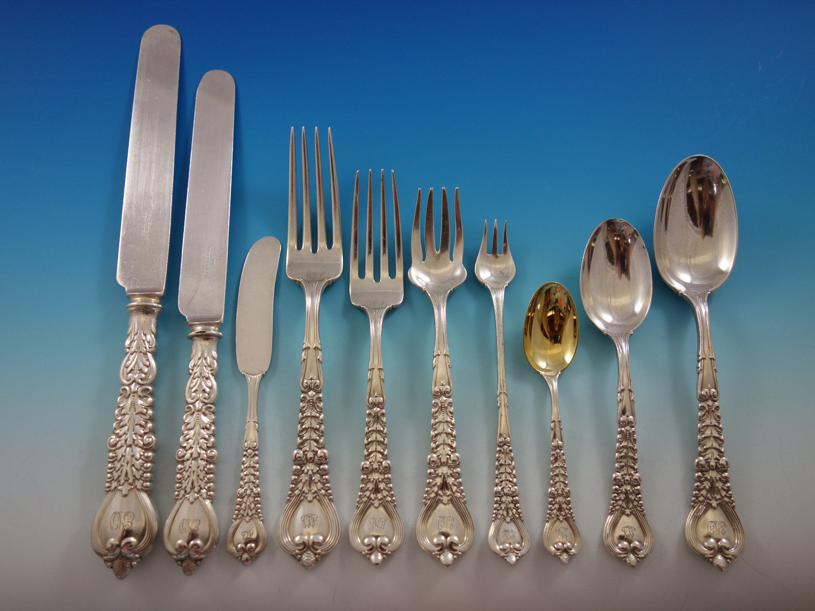 Primary image for Florentine by Tiffany and Co. Sterling Silver Flatware Set Service 240 pieces