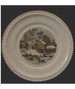HARKERWARE THE OLD HOMESTEAD IN WINTER CURRIER & IVES DINNER PLATE - $22.76
