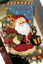 Bucilla Christmas Joy Santas Delivery Toys Bear Holiday Felt Stocking Kit 86019 - $92.95