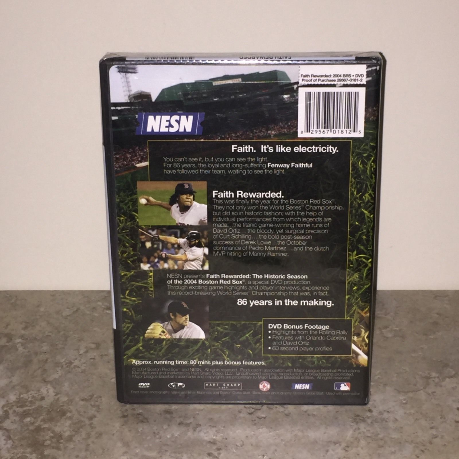 Factory Sealed Faith Rewarded: The Historic Season of the 2004 Red Sox DVD