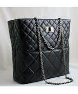 CHANEL Black Aged Calfskin Leather Tote, RH AUTHENTICITY VERIFIED! - $1,899.00
