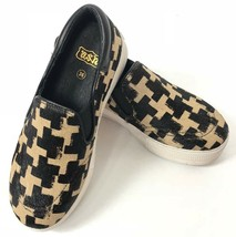 Ash Jam Cow Fur Sneakers Shoes 36 Women Slip On Brown Beige Checkered  - $69.99