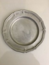 Antique Country French Dinner Plate 1974 Wilton Armetale Ware USA Pewter... - $44.54