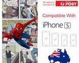 iPhone Silicone Cover Case Marvel Comic Universe Spider-Man Avenger - Coverlads