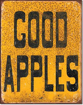 Good Apples Apple Orchard Fresh Picked Fruit Farm Food and Beverage Metal Sign - $19.95