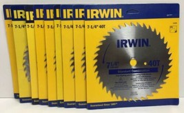 "(New) Irwin 11140  7-1/4"" 40 T Saw Blade  Lot of 9 - $66.82"