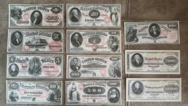 High quality COPIES with W/M United States banknotes 1874-1878 year - $55.00