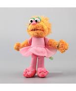 Sesame Street Girl Puppet Zoe Plush Toy with Plastic Eye Zoe Stuffed Dol... - $14.56