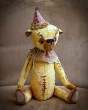 OOAK Handmade in Russia Teddy Bear Dean Collector shabby chic artist Yum... - $247.45